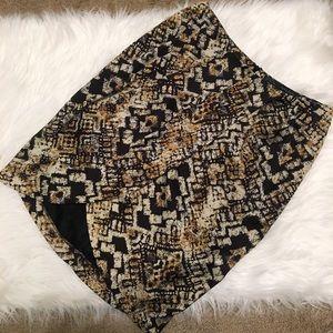 Zara Snakeskin Faux Wrap Skirt